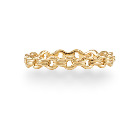 LMD CITY LIGHTS CHAIN  RING IN 18K YELLOW GOLD