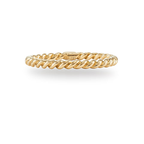 LMD CITY LIGHTS ROPE  RING IN 18K YELLOW GOLD