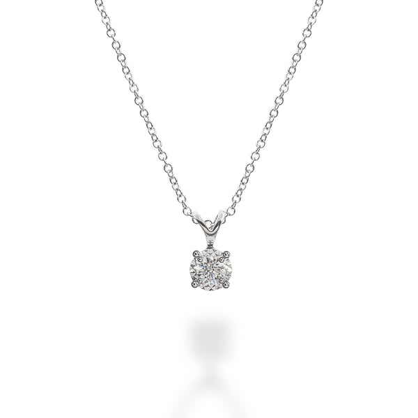 LMD BRILLIANCE FLARE DIAMOND NECKLACE