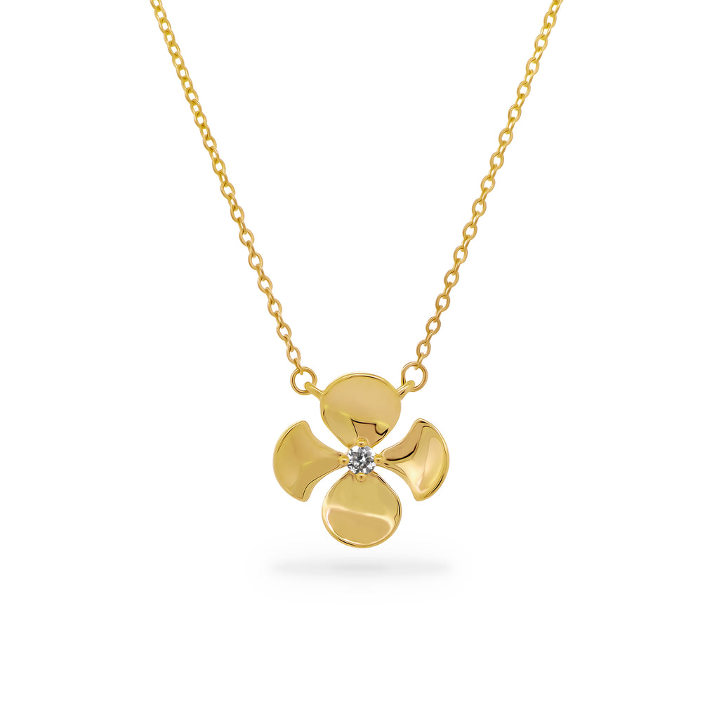 LMD FLEURS BRILLANTE NECKLACE IN 18K YELLOW GOLD