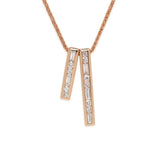 LMD CITYLIGHTS PINNACLE NECKLACE IN 18K ROSE GOLD