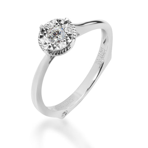 LMD HERITAGE CLASSIC DIAMOND RING IN 18K WHITE GOLD