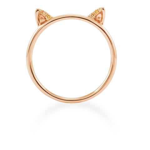 LMD CITY LIGHTS PERSIAN DIAMOND RING IN 18K ROSE GOLD