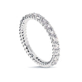 0.70CTS LMD TWIST HALF INFINITY TWIST RING IN PLATINUM