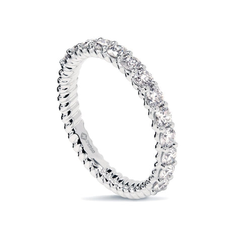 0.50CTS LMD TWIST HALF INFINITY TWIST RING IN PLATINUM