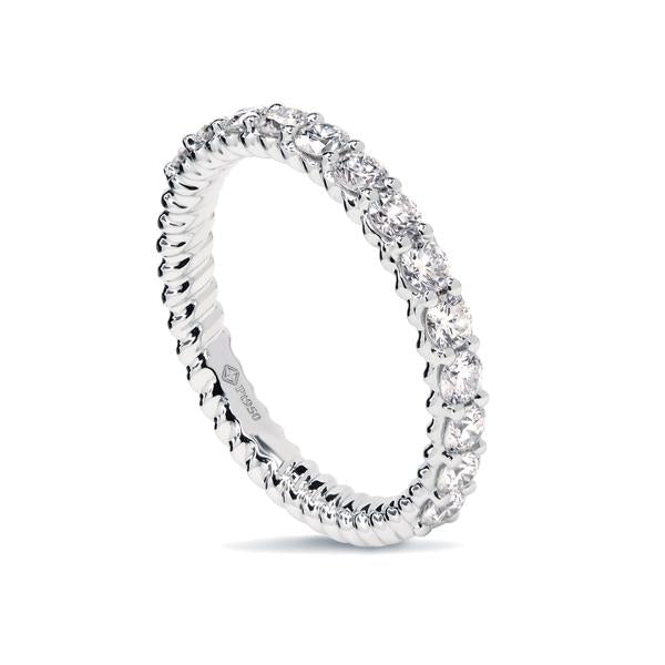 0.45CTS LMD HALF INFINITY TWIST RING IN PLATINUM
