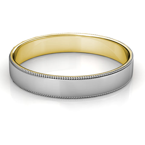 KIKO JAPAN TWO-TONE WEDDING BAND IN PLATINUM/18KT