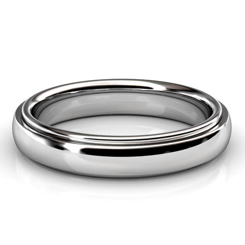 LOW DOME COMFORT FIT WEDDING RING IN PLATINUM (4.5mm)