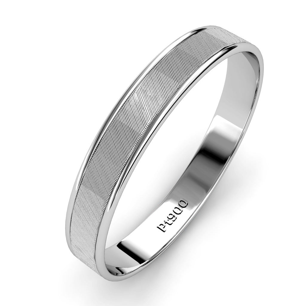 dp band com mens ring wedding amazon new platinum brushed