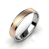 KIKO JAPAN TWO-TONE WEDDING BAND IN PLATINUM/18K ROSE GOLD