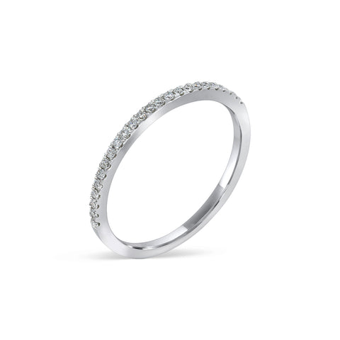 1.8MM CHANNEL PAVÉ-SET DIAMOND RING IN 18K WHITE GOLD - 0.15ct
