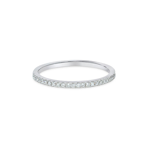 2.5MM CHANNEL PAVÉ-SET DIAMOND RING IN 18K WHITE GOLD - 0.33CTS