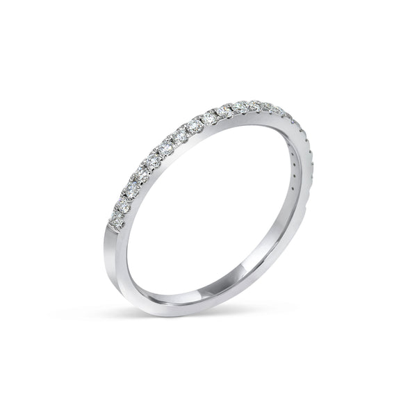 1.7MM CHANNEL PAVÉ-SET DIAMOND RING IN 18K WHITE GOLD - 0.25ct