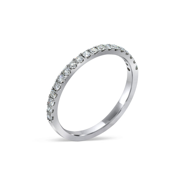 1.62MM CHANNEL PAVÉ-SET DIAMOND RING IN 18K WHITE GOLD - 0.33ct