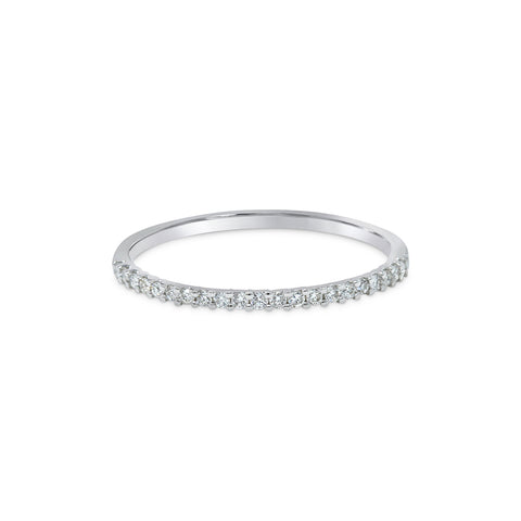 2.2MM CHANNEL PAVÉ-SET DIAMOND RING IN 18K WHITE GOLD - 1.00ct