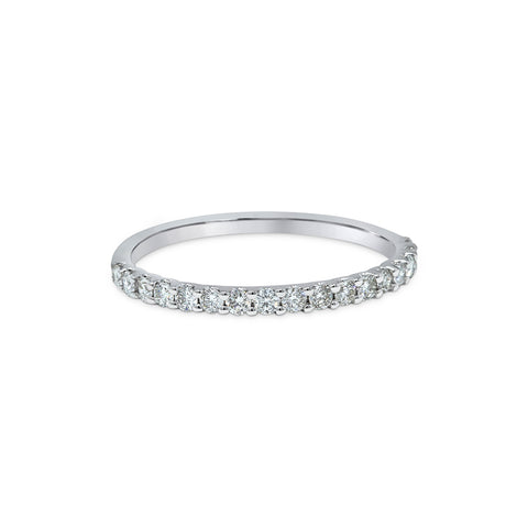1.71MM CHANNEL PAVÉ-SET DIAMOND RING IN 18K WHITE GOLD - 0.33ct