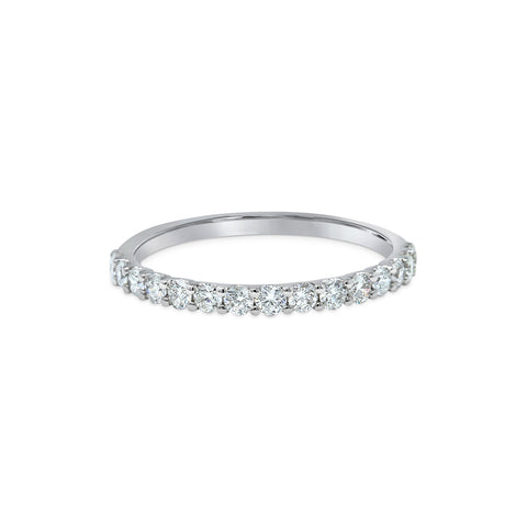 1.75MM CHANNEL PAVÉ-SET DIAMOND RING IN 18K WHITE GOLD - 0.50ct