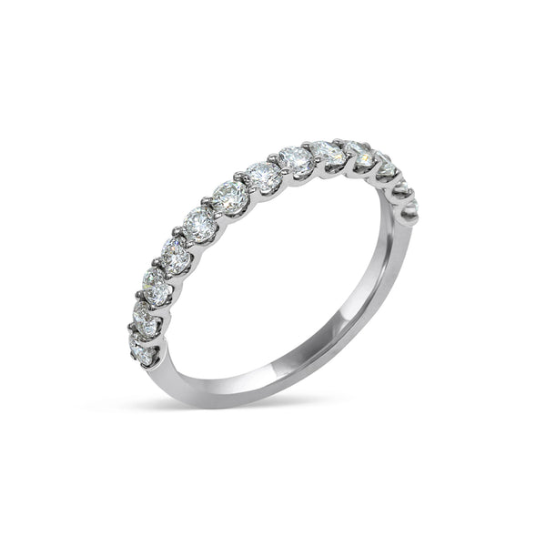 1.95MM CHANNEL PAVÉ-SET DIAMOND RING IN 18K WHITE GOLD - 0.75ct