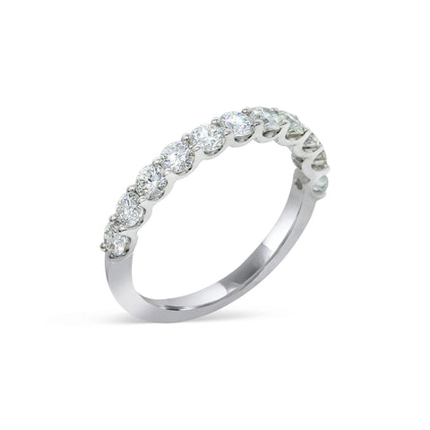 2.4MM CHANNEL PAVÉ-SET DIAMOND RING IN 18K WHITE GOLD - 1.00ct