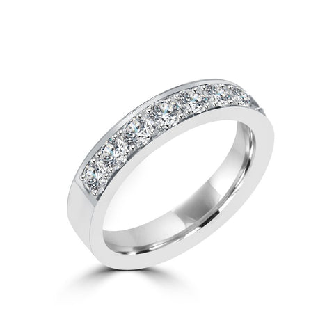 4MM CHANNEL PAVÉ-SET DIAMOND RING IN 18K WHITE GOLD - 1.00CTS