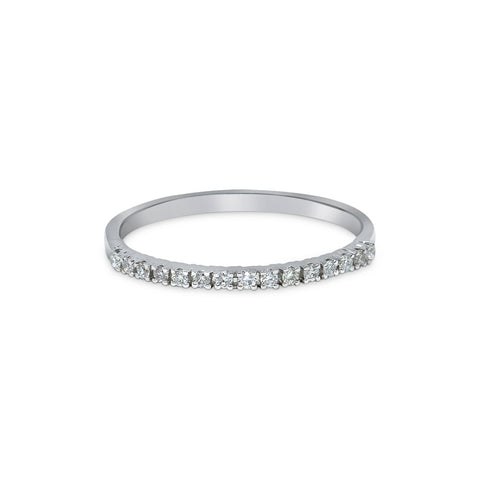 1.75MM PAVÉ-SET DIAMOND RING IN 18K WHITE GOLD - 0.15ct