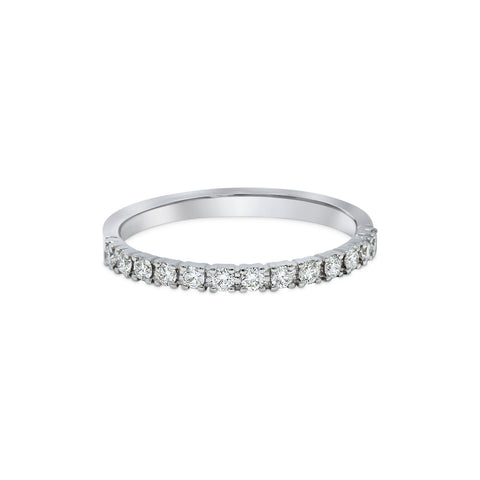 1.71MM PAVÉ-SET DIAMOND RING IN 18K WHITE GOLD - 0.25ct