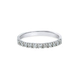 1.95MM PAVÉ-SET DIAMOND RING IN 18K WHITE GOLD - 0.33ct