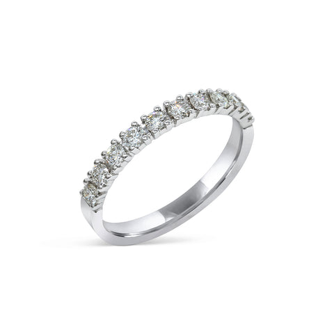 1.9MM PAVÉ-SET DIAMOND RING IN 18K WHITE GOLD - 0.50ct
