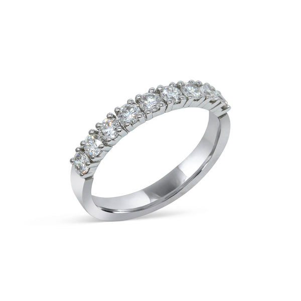 2.2MM CHANNEL PAVÉ-SET DIAMOND RING IN 18K WHITE GOLD - 0.75ct