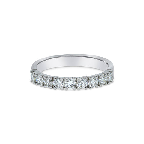 2.2MM PAVÉ-SET DIAMOND RING IN 18K WHITE GOLD - 0.75ct