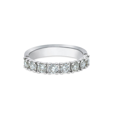 2.5MM PAVÉ-SET DIAMOND RING IN 18K WHITE GOLD - 1.00ct