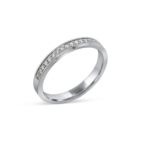 1.5MM CHANNEL PAVÉ-SET DIAMOND RING IN 18K WHITE GOLD - 0.15ct