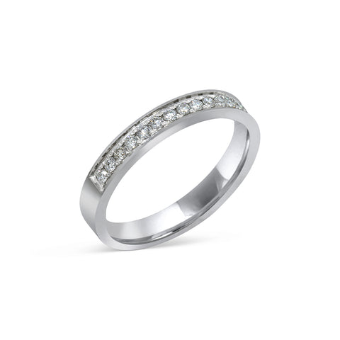 1.5MM CHANNEL PAVÉ-SET DIAMOND RING IN 18K WHITE GOLD - 0.25ct