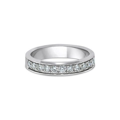 1.7MM CHANNEL PAVÉ-SET DIAMOND RING IN 18K WHITE GOLD - 0.50ct
