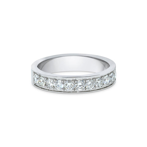 1.9MM CHANNEL PAVÉ-SET DIAMOND RING IN 18K WHITE GOLD - 0.75ct