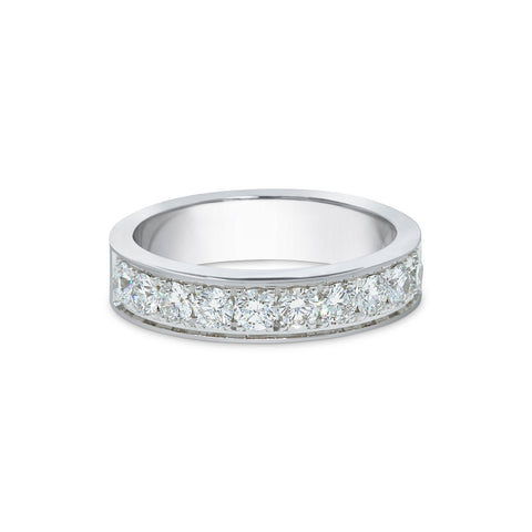 2.3MM CHANNEL PAVÉ-SET DIAMOND RING IN 18K WHITE GOLD - 1.00ct