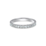 1.65MM PAVÉ-SET DIAMOND RING IN 18K WHITE GOLD - 0.33ct