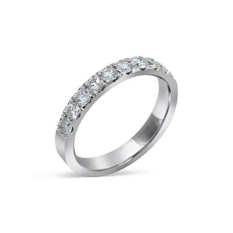 1.81MM PAVÉ-SET DIAMOND RING IN 18K WHITE GOLD - 0.75ct
