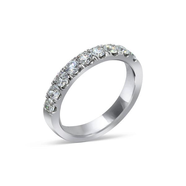 2.1MM PAVÉ-SET DIAMOND RING IN 18K WHITE GOLD - 1.00ct