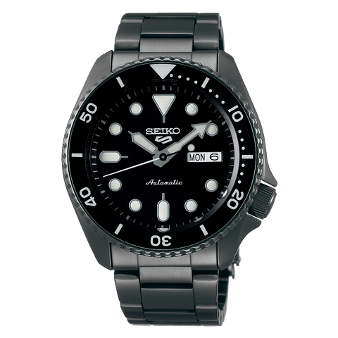 SEIKO 5 SPORTS AUTOMATIC WATCH IN BLACK SRPD65K1