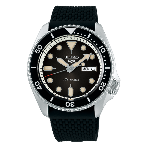 SEIKO 5 SPORTS AUTOMATIC WATCH IN BLACK DIAL SRPD73K2