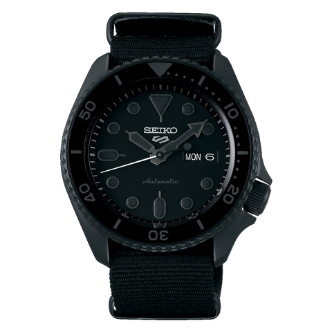 SEIKO 5 SPORTS AUTOMATIC WATCH IN BLACK SRPD79K1
