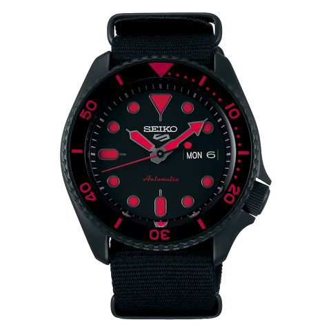 SEIKO 5 SPORTS AUTOMATIC WATCH IN BLACK SRPD83K1