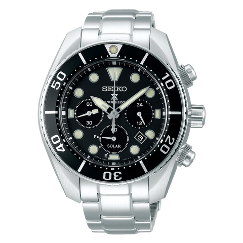 (PRE-ORDER IN FEB 2020) SEIKO PROSPEX SOLAR SUMO CHRONOGRAPH IN BLACK DIAL SSC757J1