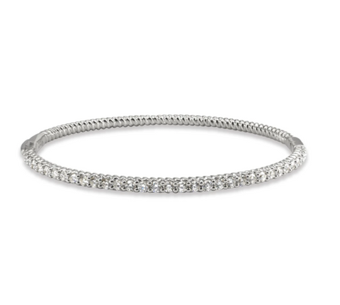 LMD TWIST BANGLE IN 18K WHITE GOLD