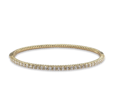 LMD TWIST BANGLE IN 18K YELLOW GOLD