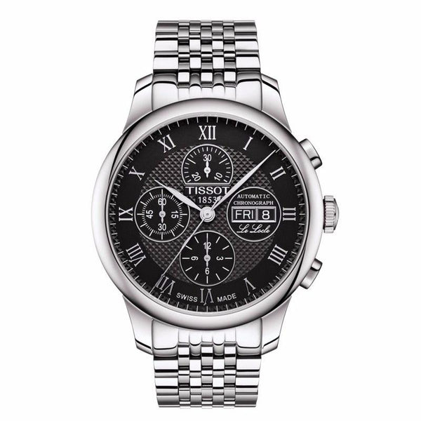 TISSOT LE LOCLE VALJOUX CHRONOGRAPH SILVER AND BLACK