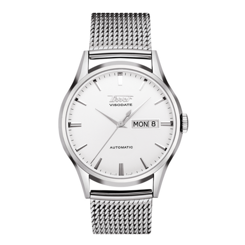 TISSOT HERITAGE VISODATE AUTOMATIC SILVER