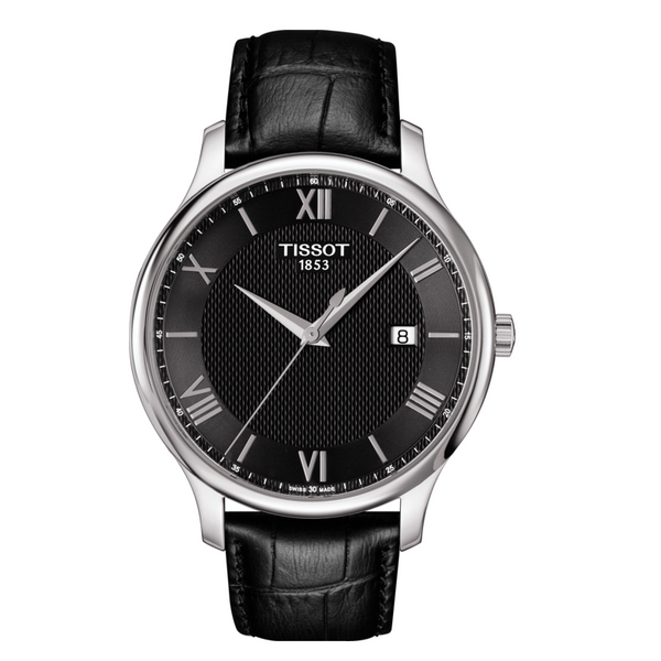 TISSOT TRADITION BLACK STRAP BLACK DIAL