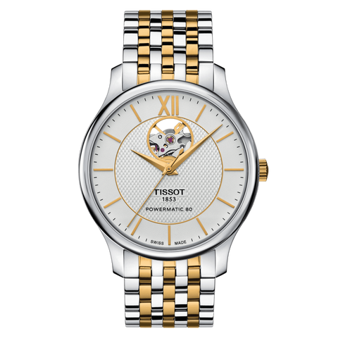 TISSOT TRADITION POWERMATIC 80 OPEN HEART T0639072203800